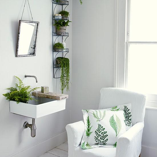 White and green bathroom | housetohome.co.uk
