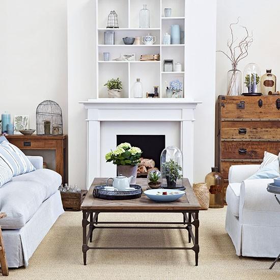 Housetohome Co Uk: Cream And Sky Blue Living Room