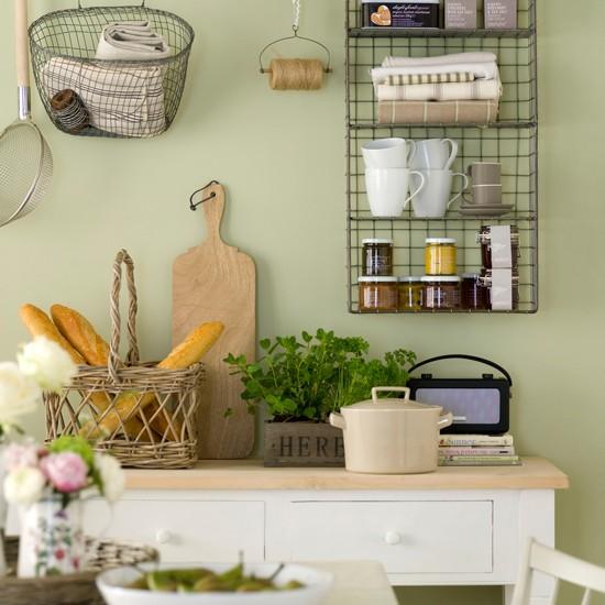 Kitchen shelving green kitchen colour ideas home for Colori per soggiorno e cucina