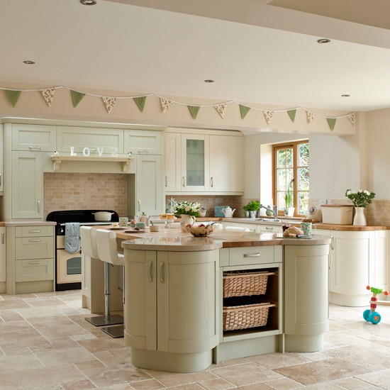 Colours For Kitchens: Green Kitchen Colour Ideas - Home