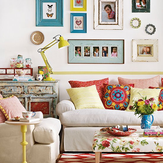Colorful Living Room Style: Colourful Boho Chic Living Room