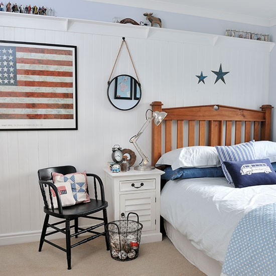 Boys Room Blue: White And Pale Blue Boys Bedroom