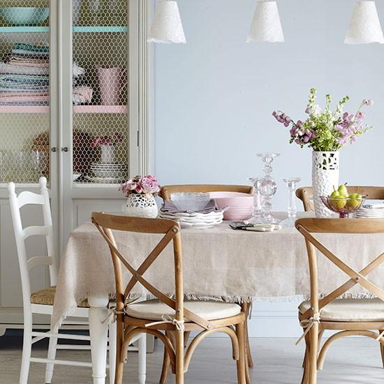 pastels and wood dining room dining room decorating. Black Bedroom Furniture Sets. Home Design Ideas