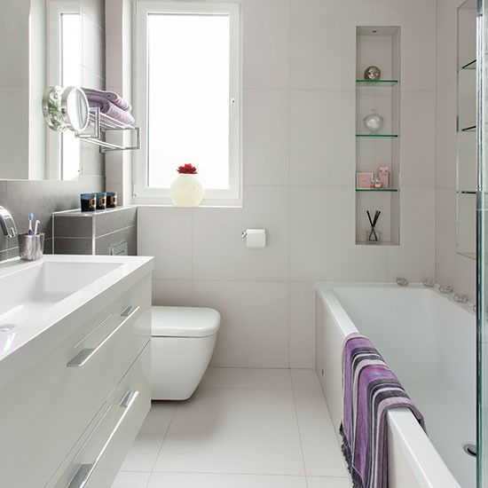 White Bathroom Decor Ideas Pictures Tips From Hgtv: Small Modern White Bathroom