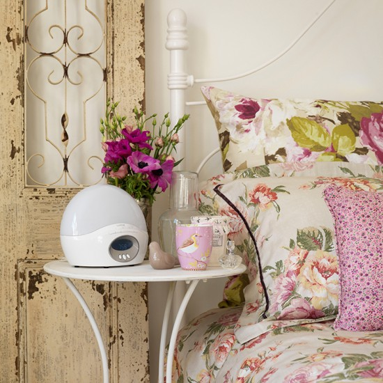 Country-style Bedroom With Bedside Table