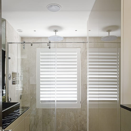Choosing shutters for a wet room | Celia Rufey answers your window ... - Contemporary Window Dressing Ideas