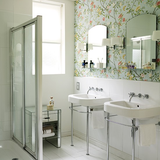 Bath Wallpaper Ideas: How To Make The Most Of A Small Shower Room