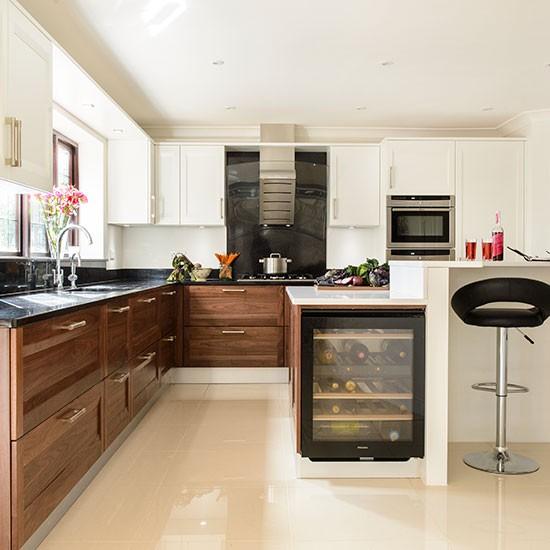 Walnut Kitchen Cabinet: Walnut And White Kitchen