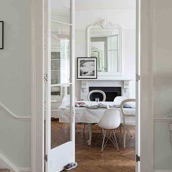 French Style Dining Room: French-style White Dining Room