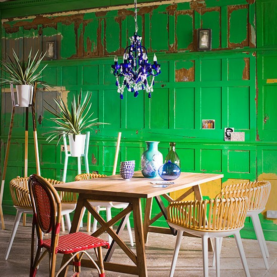 Green Panelled Dining Room