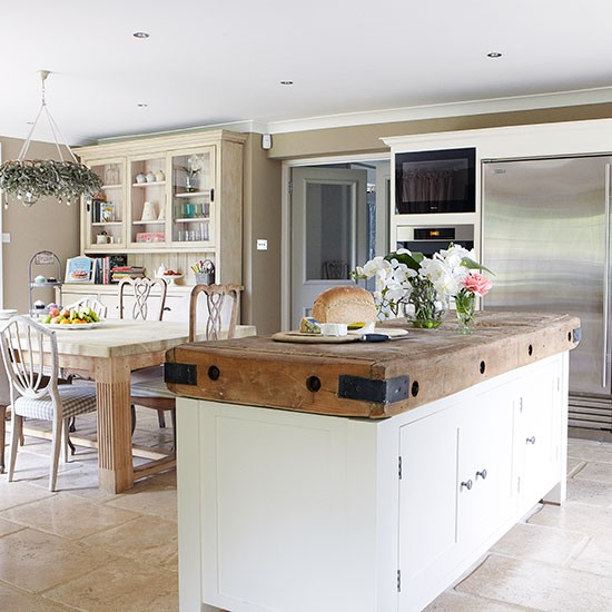 Butchers Kitchen Ideas : Rustic kitchen with reclaimed wood butcher's block focal point Rustic kitchen ideas ...