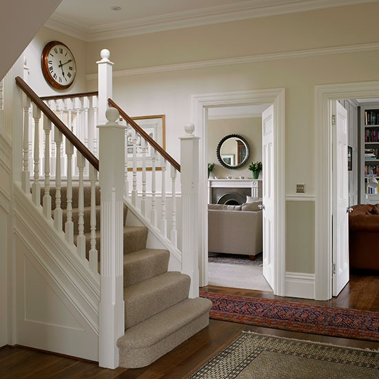 New Home Interior Design Traditional Hallway: Traditional White Painted Hallway