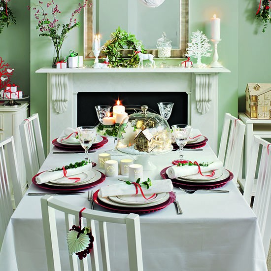 Simple Scandi dining table | Budget Christmas table ideas | Dining room | PHOTO GALLERY | Ideal Home | Housetohome.co.uk