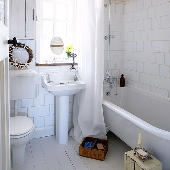Bathing corner small bathroom ideas - White bathroom ideas photo gallery ...