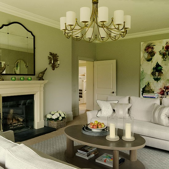 Cream Living Room: Classic Taupe And Cream Living Room