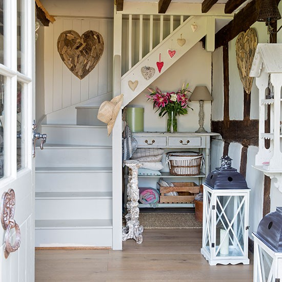 Hallway With Understairs Storage: Country Hallway With Under-stair Storage