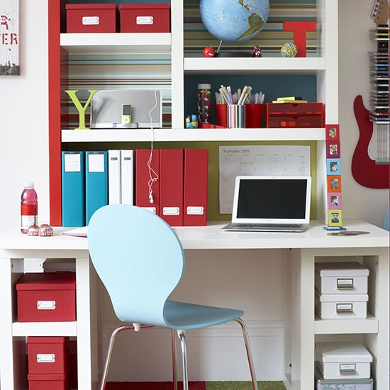 Decorating Ideas For Study Spaces: Teenage Boy's Bedroom Ideas