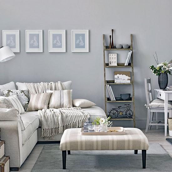 Stylish Mid Grey Living Room Living Room Decorating