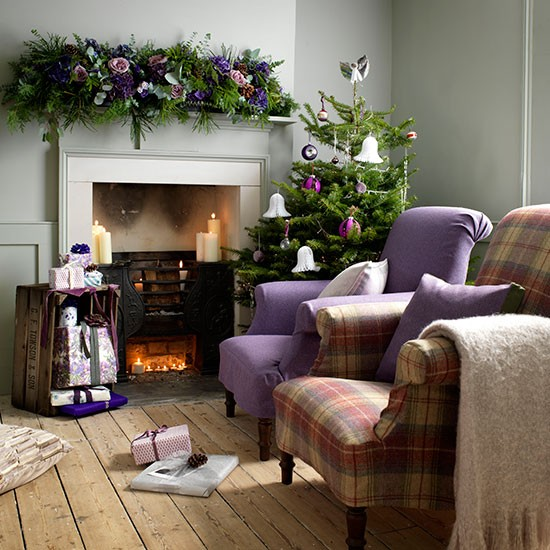 Cosy Christmas Fireside Armchairs Country Christmas