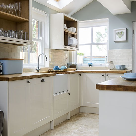Pale Blue And Cream Kitchen Housetohome Co Uk