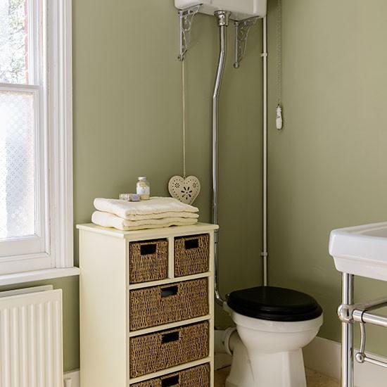 Sage Green Hallway: Sage Green And Cream Bathroom