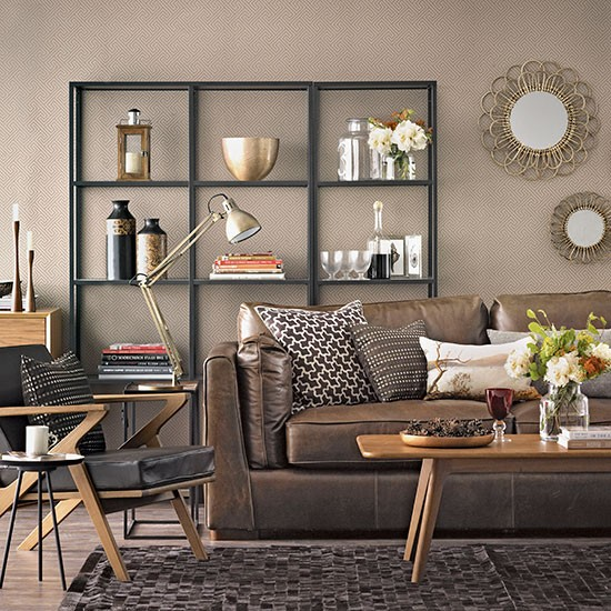 Brown Living Room Decorating Ideas: Chocolate Brown Living Room