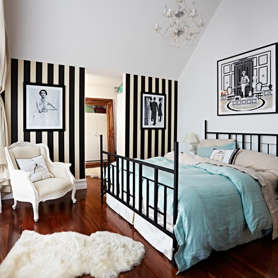 Decorating With Stripes For A Stylish Room: Modern Bedroom Pictures