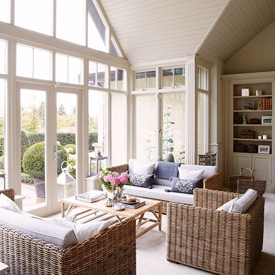 Housetohome Co Uk: Country Conservatory With Wicker Furniture