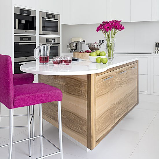 Room Tour Beautiful Kitchen Makeover With Timeless: Hi-gloss Kitchen With Pink Accents
