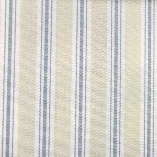 Harbour Blue Bay Stripe Fabric From Dunelm