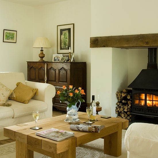 Beautiful Living Rooms: Traditional Living Room With Woodburner
