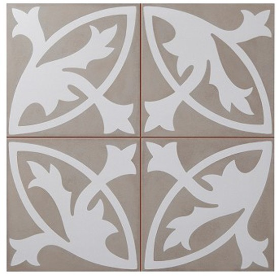 Camden Grey Floral Lys Tile From Topps Tiles