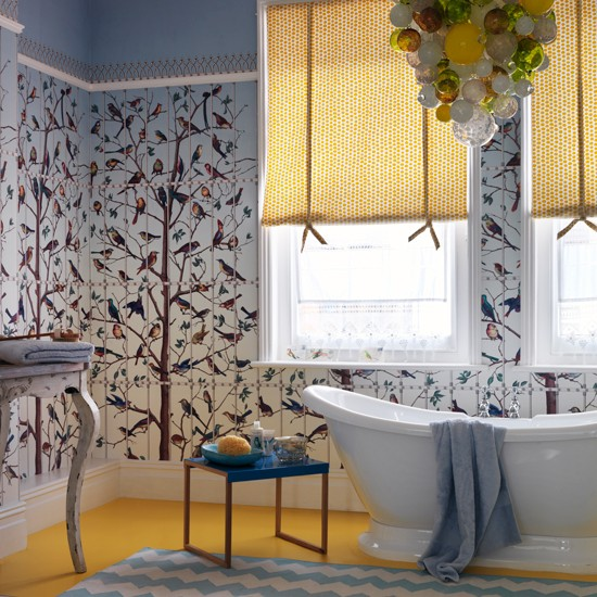 Blue And Yellow Bathroom Decor: Traditional Bathroom Pictures