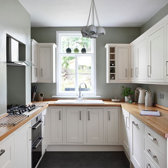 20 Gorgeous Green Kitchen Cabinet Ideas: White And Sage Green Country Kitchen