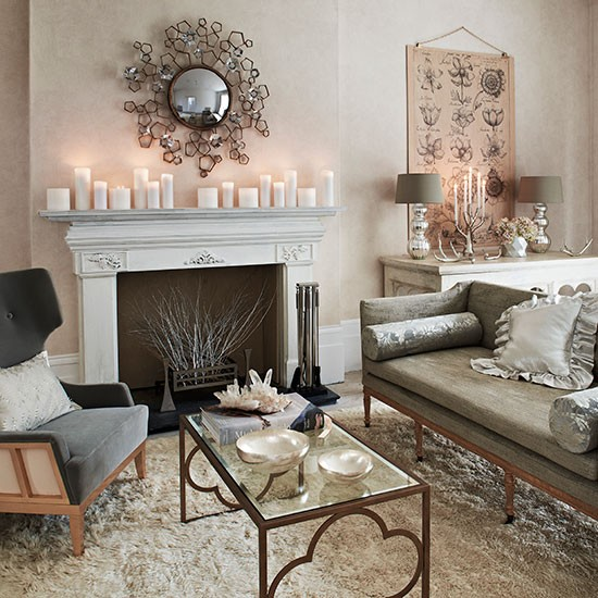 Modern Craftsman Homes: Cream And Grey Living Room