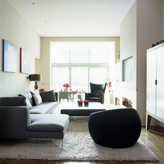 Corner Sofa Room Designs: Sitting Area With Corner Sofa