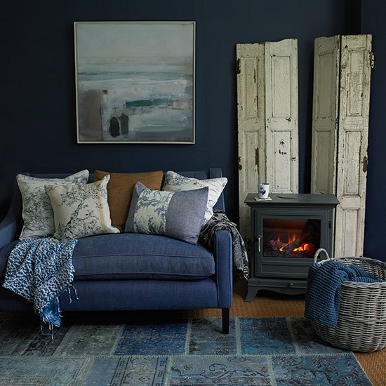 Country Blue Living Room: Country Living Room Ideas - 30 Of