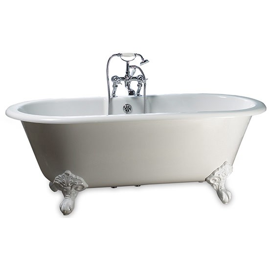 Grey Country Bathroom With Rolltop Bath: Cheshire Roll-top Bath From Victoria & Albert