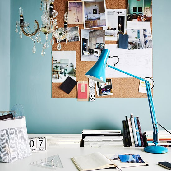 Blue And White Office: Blue And White Home Office