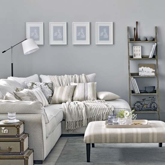 Soft Grey Living Room Ideas: Traditional Living Room Pictures