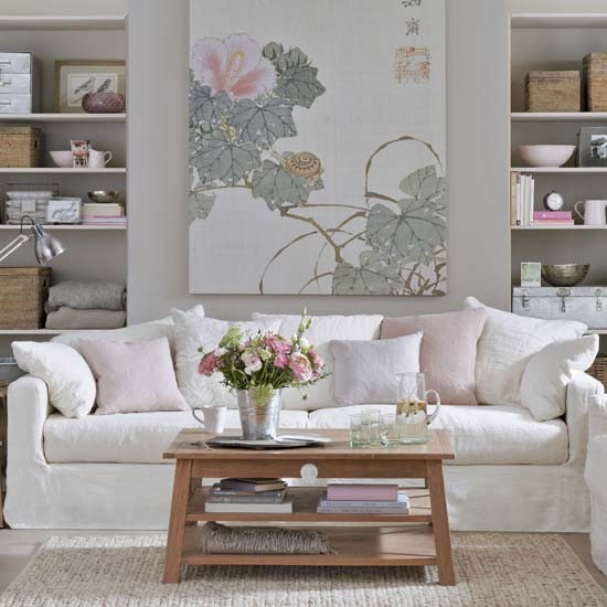 Pink Living Room Ideas: British Style Big Living Room