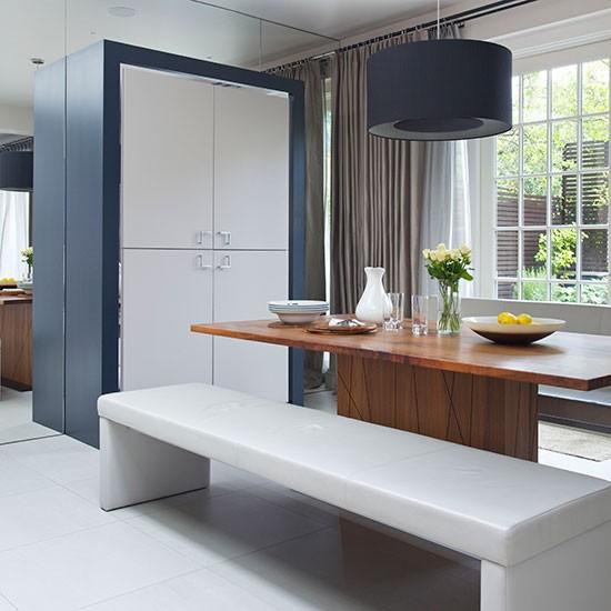 Dining Area In Kitchen: Modern Blue-black Kitchen