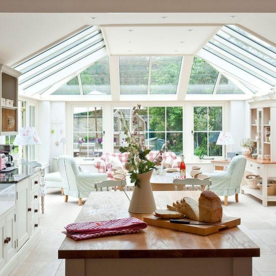 Open Plan Kitchen Design Ideas: Bright And Open Conservatory Open-plan Kitchen
