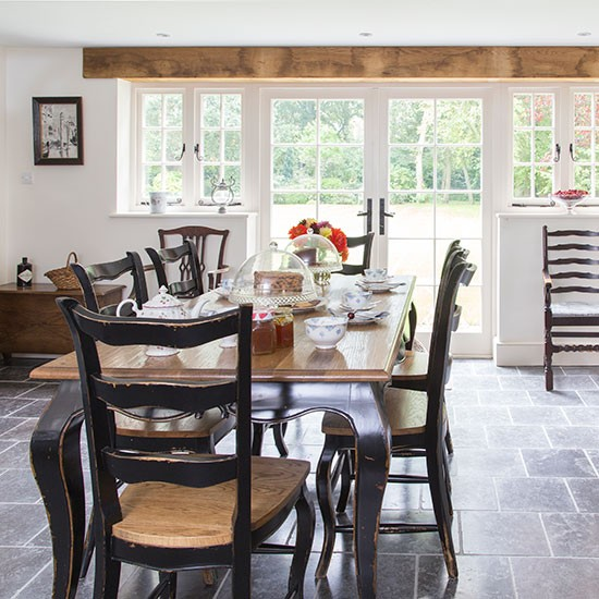French Style Dining Room: French-style Dining Room With Oak Table
