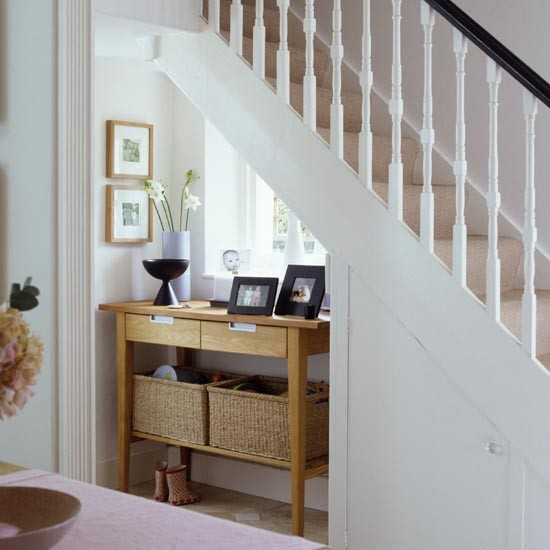 12 Storage Ideas For Under Stairs: Hallway Understairs Hideaway
