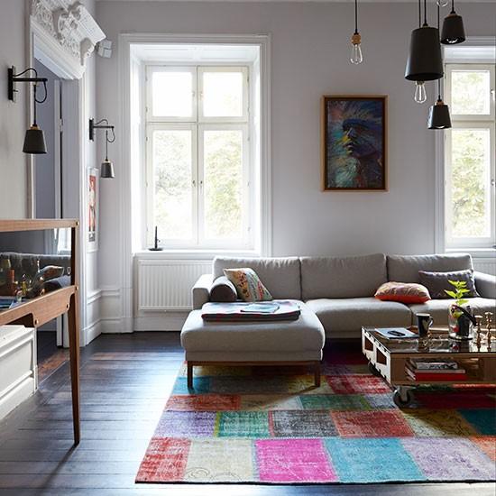 Open Plan Living Room Decor: Open-plan Eclectic Living Room