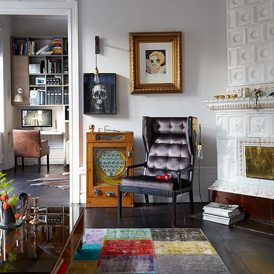 Small Eclectic Living Room Decorating Ideas: Living Room With Eclectic Accessories