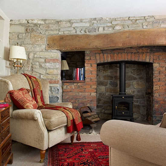 Living Room Decorating Ideas With Red Brick Fireplace: How Rugs Can Revitalise Living Rooms