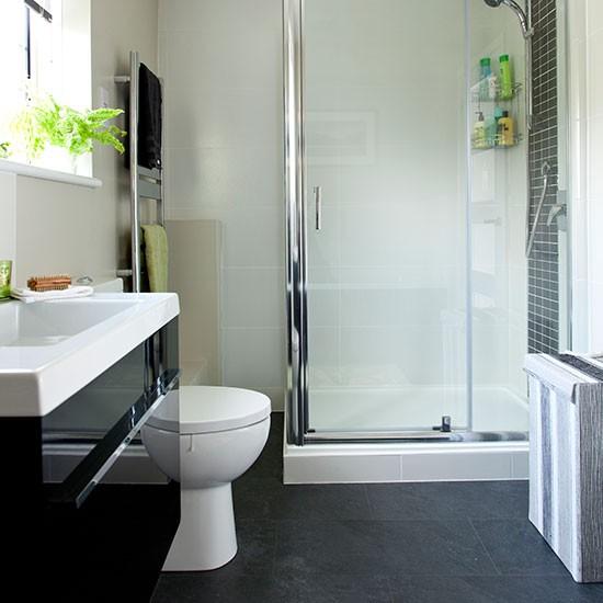 White And Grey Tiled Bathroom Decorating Housetohome Co Uk