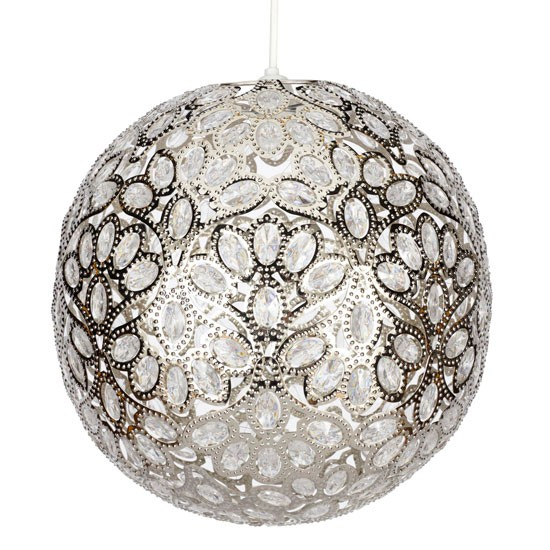 Ceiling Lamp Next: Aurora Ball Nickel Ceiling Light From Next